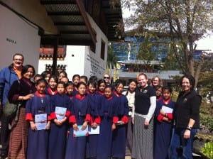 Year 6 Students-Teachers-ACCF Group-Jigme Losel Primary School-2014