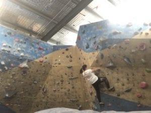 Angela Langdon Rock Climbing