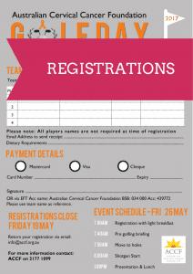 ACCF Golf Day Registration Form 2017