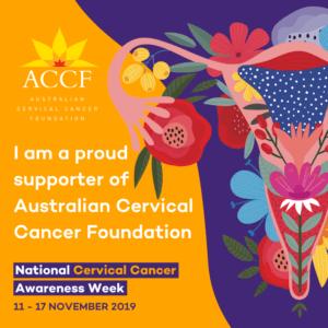 Australia Cervical Cancer Foundation(ACCF) National cervical Awareness Week_Supporter tile