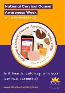 National Cervical Cancer Awareness Week poster